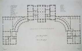 Floor Plan With Elevation And Perspective by Vitruvius Britannicus Or The British Architect