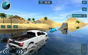 monster truck racing games free download beach truck water surfing u2013 3d fun driving sim free download of