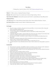 respiratory therapist resume exles sle resume objectives for respiratory therapist fresh respiratory