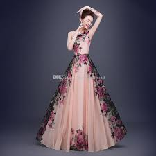 2016 new arrival long flora bridesmaid prom dresses for wedding
