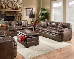 Brown Bonded Leather Sofa Set Casual Living Room Furniture W - Casual living room chairs