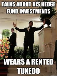 Tuxedo Meme - talks about his hedge fund investments wears a rented tuxedo