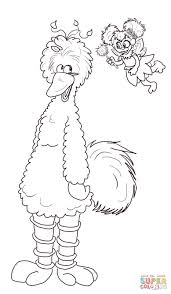 abby cadabby and big bird coloring page free printable coloring