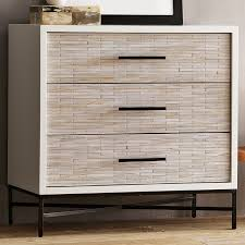 Dresser For Bedroom Wood Tiled 3 Drawer Dresser Modern West Elm Regarding Dresser For