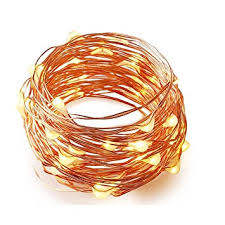 copper wire lights battery bzone fairy strip light battery operated 7 foot 20 leds copper wire