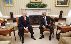trump meets with obama at white house in symbolic start to