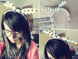 polka dot hair diy polka dot bow headband