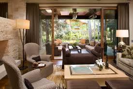 interior modern ranch style house design living area and veranda