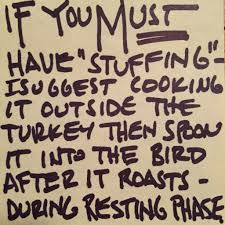 funny images of turkeys in thanksgiving stuffing your turkey just don u0027t do it alton brown