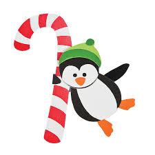 candy cane penguin doorknob hanger christmas craft kit