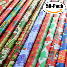 christmas wrapping paper sets outgeek 50pcs christmas wrapping paper sets christmas patterns gift