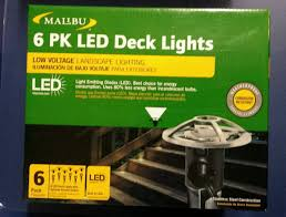 Malibu Patio Lights by Malibu 6 Pack Led Deck Lights 8411 3410 06 Walmart Com