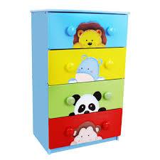 Sunny Safari Bookcase Fantasy Fields Sunny Safari 4 Drawer Cabinet With 8 Handles
