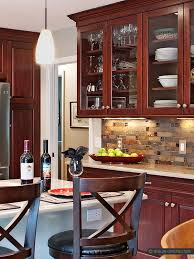 slate backsplash tiles for kitchen brown slate kitchen backsplash tile cherry cabinet from