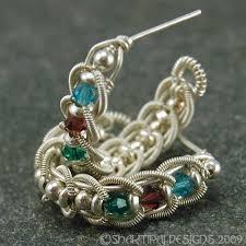 Aegean Chandelier Earrings Turquoise Blue Aegean Waves Silver Coiled Braided Wire Earrings Instant