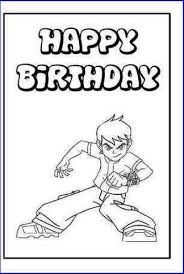 happy birthday cards for kids to color home design ideas