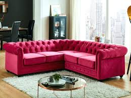 canapé chesterfield angle canape angle velours canapac dangle en velours chesterfield fuchsia