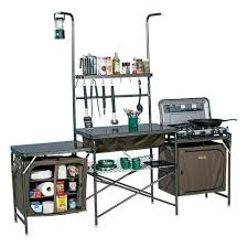 Outdoor Portable Camp Camping Kitchen PVC Sink Table Supplies W - Oztrail camp kitchen deluxe with sink