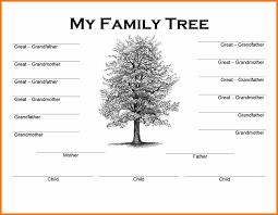 family tree word template authorization letter pdf