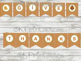 give thanks banner instant by okprintables on zibbet