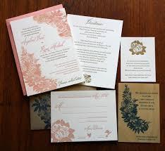 lds wedding invitations letterpress printed floral with watercolor lds wedding invitation