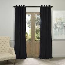 Blackout Curtain Panels With Grommets Exclusive Fabrics Warm Black Grommet Velvet Blackout Curtain Panel