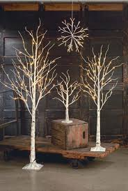 display tree large lighted white birch ornament trees