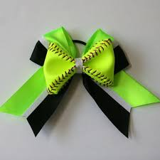 softball bows best softball glitter bows products on wanelo