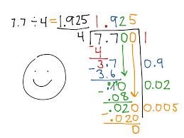 showme partial quotient division with decimals