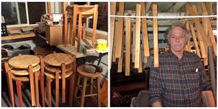 this dad made a bunch of little tables in anticipation of his
