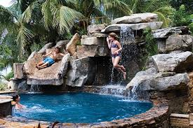Cool Backyard Ideas by Front Yard Water Feature With Backyard Pool Remodel With Natural