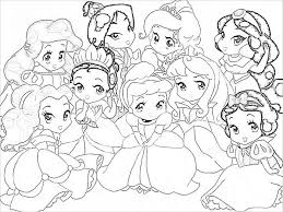 all disney baby princesses coloring pages coloring page all disney