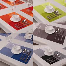 set of 4 large rectangular table mats placemats protector dining