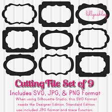 pumpkin face svg svg files scallop frame cut file set of 9 svg png and jpeg