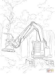 feller buncher coloring page free printable coloring pages