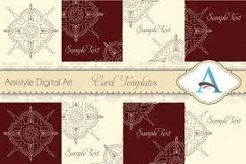 Invitation Cards Templates Indian Rangoli Card Templates Card Templates Creative Market