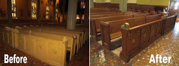 church pews portolio ommc niles st christopher rocky river