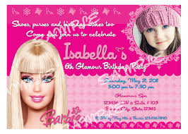 Invitation Card Birthday Barbie Birthday Invitation Barbie Invitations Barbie Birthday