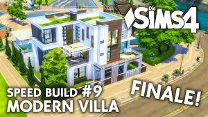 Familienhaus Großes Die Sims 4 Familienhaus Bauen Modern Villa 9 Speed