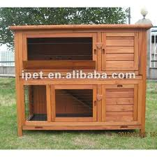 Rabbit Hutch Plastic 4ft High Quality Outdoor Wooden 2 Tier Rabbit Hutch With Plastic