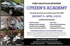 citizen u0027s academy forest grove oregon