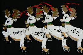 personalized boy name reindeer ornament handcrafted