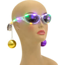 mardi gras glasses light up mardi gras sunglasses with dangling balls sg103
