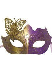 masquerade masks venetian papier mache purple and gold eye masquerade mask with