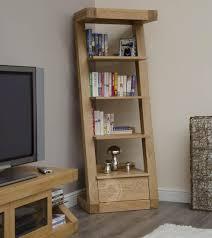 Narrow Bookcases by Z Shape Solid Oak 1 Drawer Narrow Bookcase Oak Furniture Uk