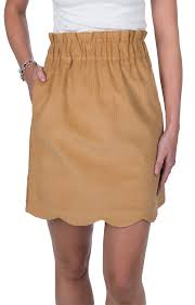 corduroy skirt scallop corduroy skirt