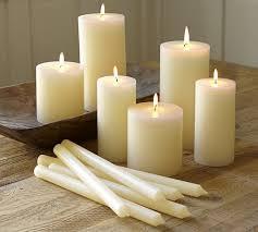 pb pillar candle ivory pottery barn