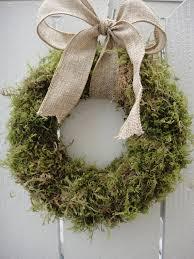 wedding wreath moss wreath with burlap bow wedding wreath rustic wreath