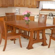 make a rustic trestle dining table image of picture of trestle dining table