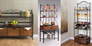 Small Bakers Rack With Drawers Lovable Bakers Rack With Cabinet Wine Bottle Storage Bakers Rack